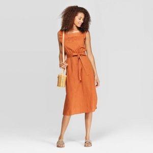 Universal Thread Orange Midi Dress